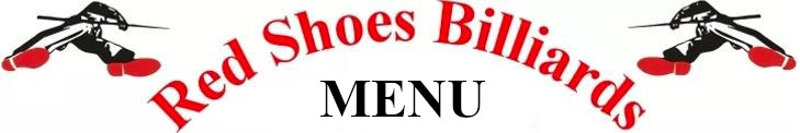 Red Shoes Billiards Bar and Grill Menu